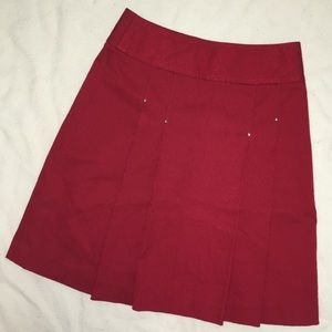 Etcetera Red Pleated Paisley Skirt sz 0